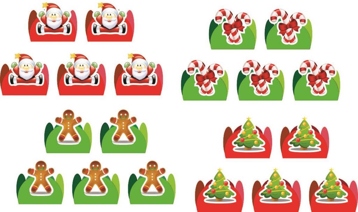 Kit Festa De Natal 143 Peças (20 pessoas)