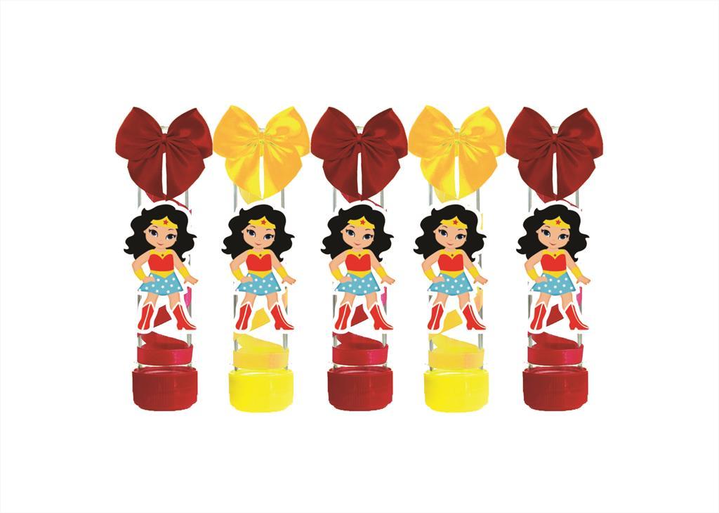Kit festa decorado Mulher Maravilha Baby 105 peças (10 pessoas)