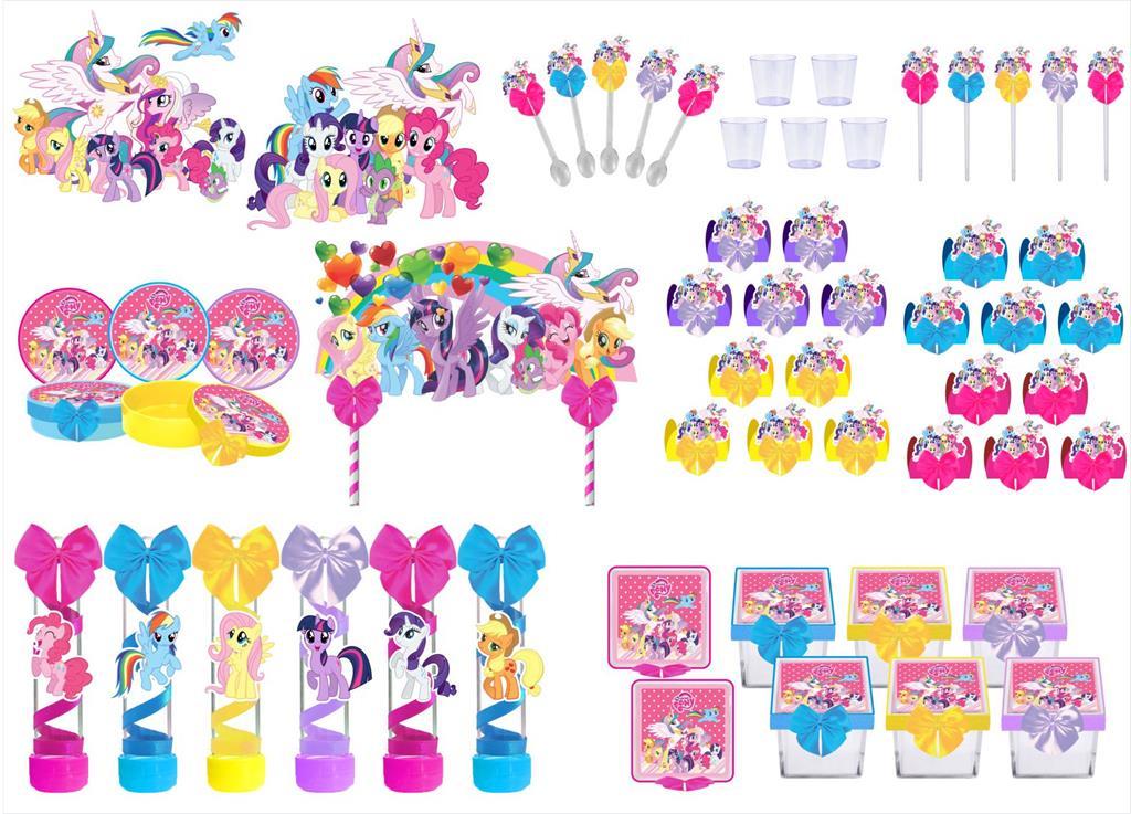 Kit festa decorado My Little Pony  173 peças (20 pessoas)