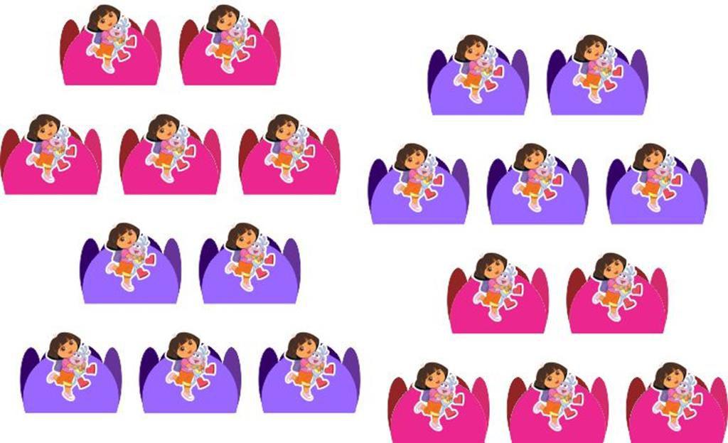 Kit festa Dora Aventureira 99 peças (10 pessoas)