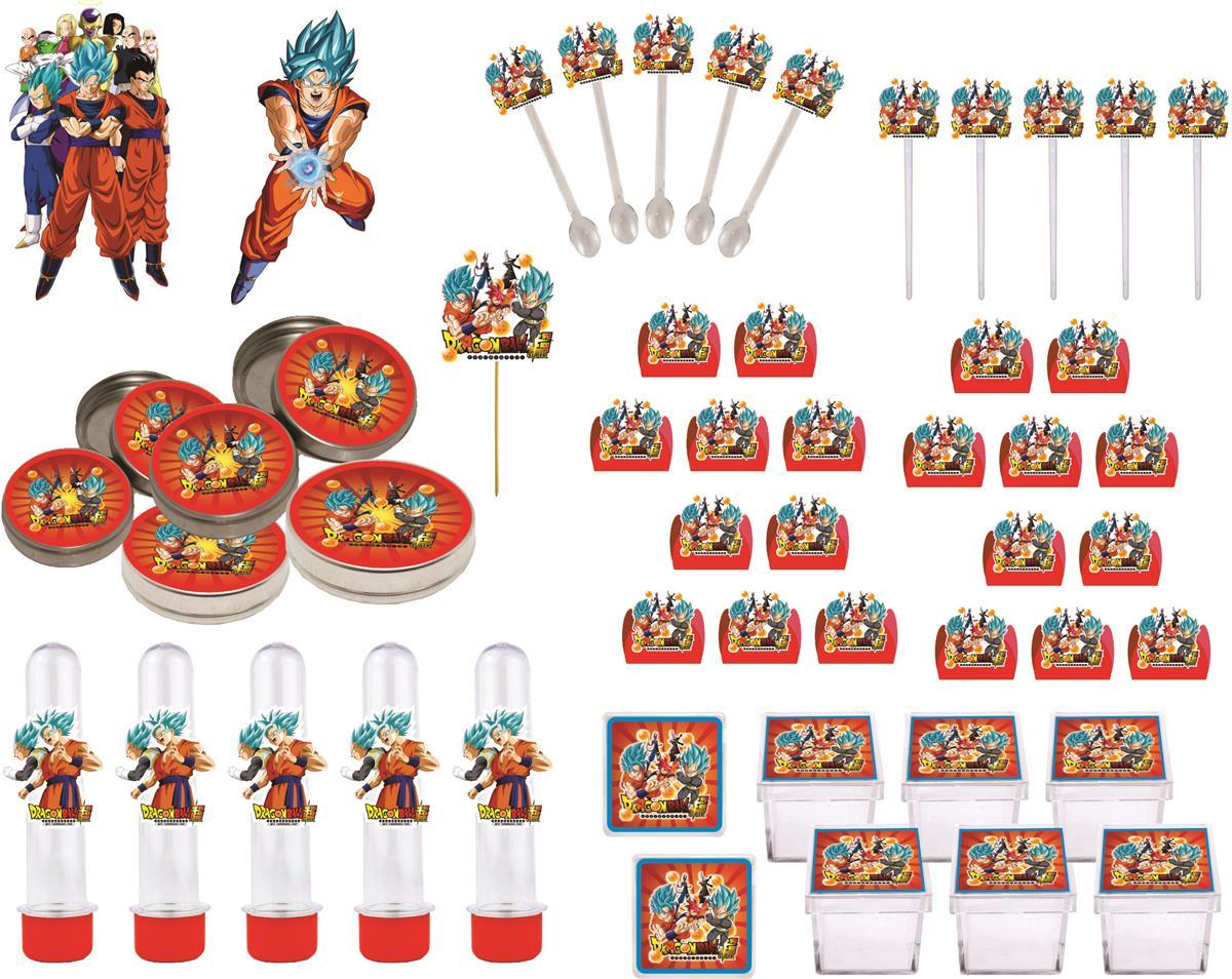Kit Festa Dragon Ball Super 107 Peças (10 pessoas)