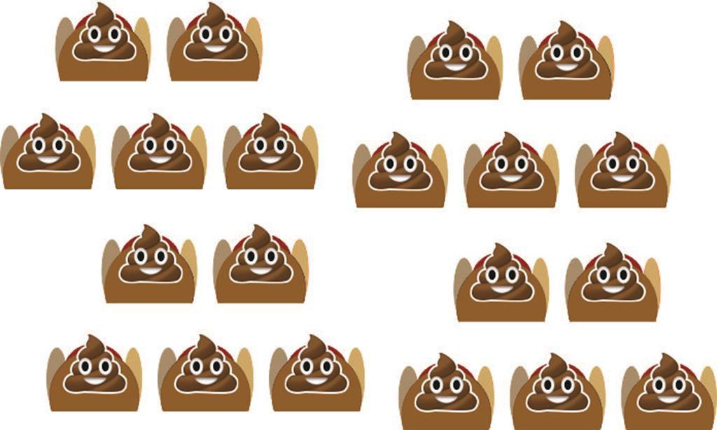 Kit festa Emoji cocô 107 peças (10 pessoas)