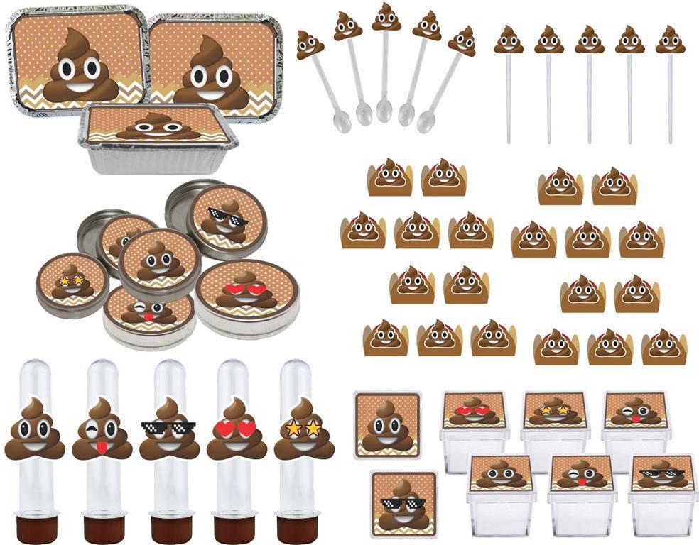 Kit festa Emoji cocô 114 peças (10 pessoas)