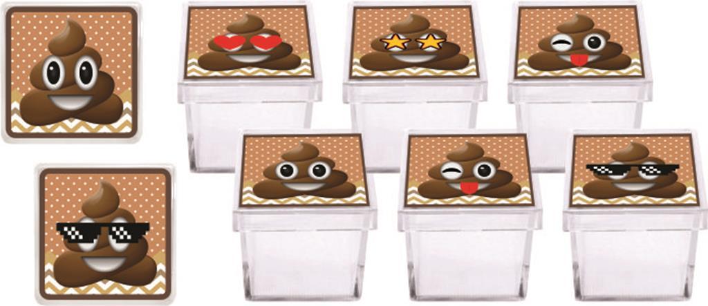 Kit festa Emoji cocô  178 peças (20 pessoas)