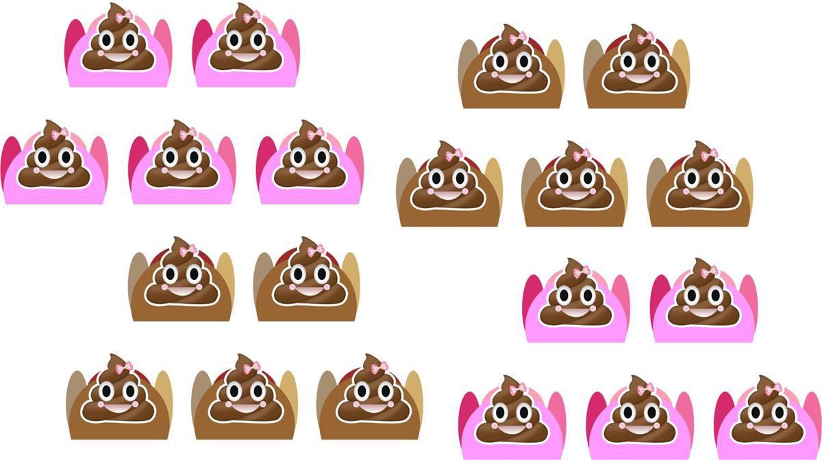 Kit festa Emoji cocô menina 114 peças (10 pessoas)
