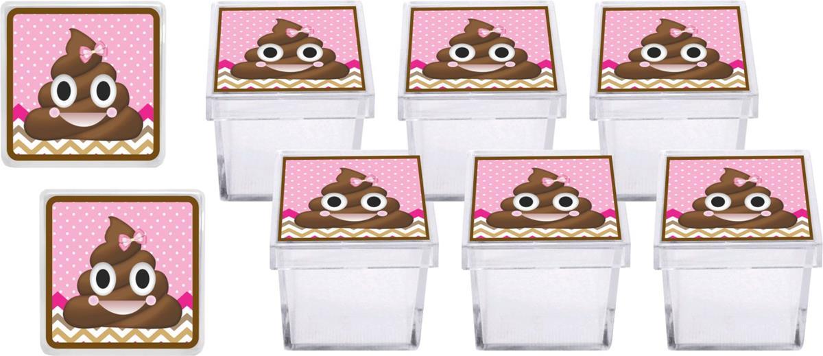 Kit festa Emoji cocô menina 178 peças (20 pessoas)