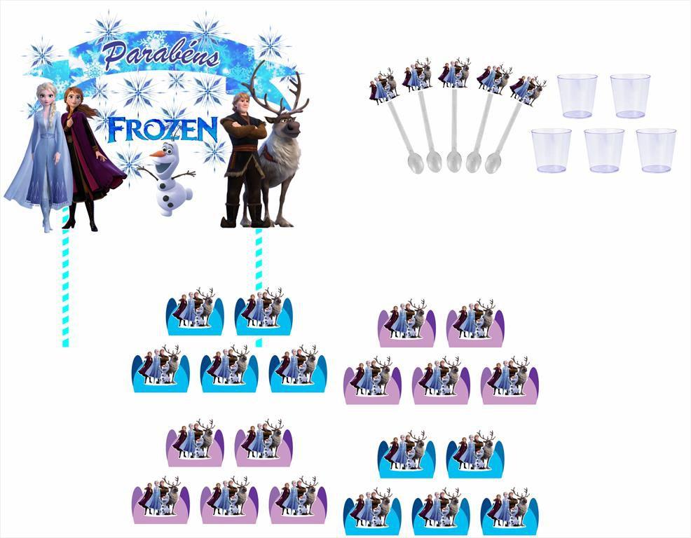 Kit Festa Frozen 2 (61 peças)