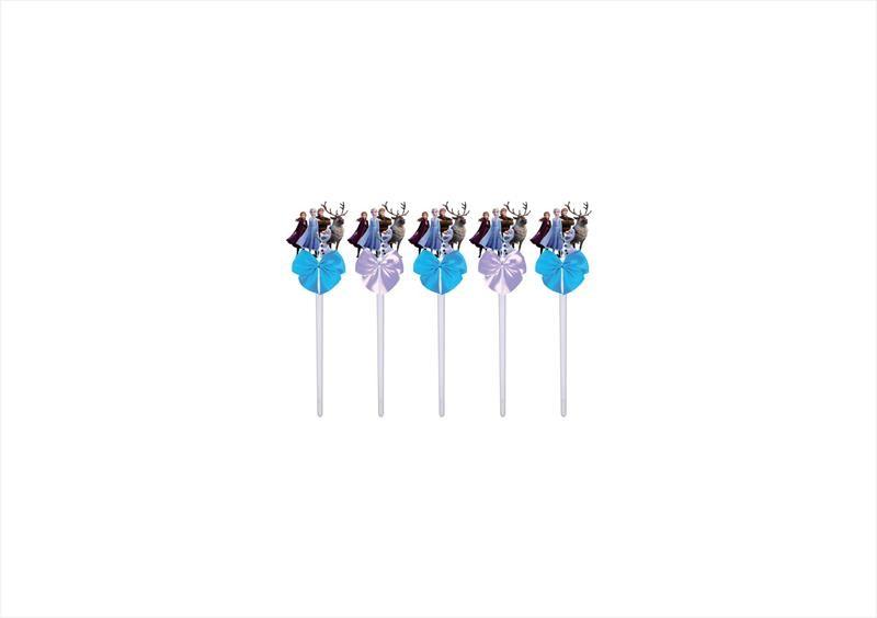 Kit festa decorado Frozen 2 (azul e lilás)113 peças (10 pessoas)