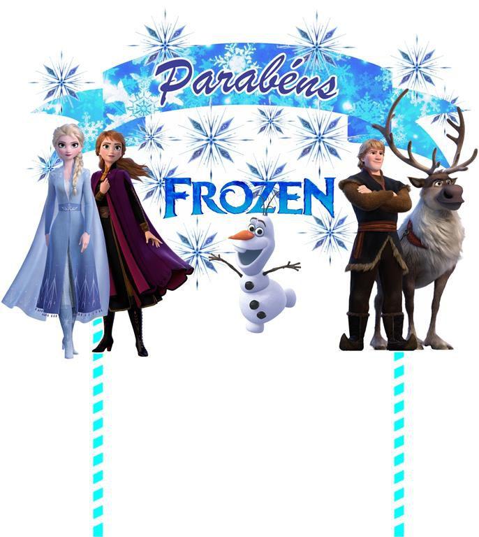 Kit festa Frozen 2 (121 peças) 10 pessoas