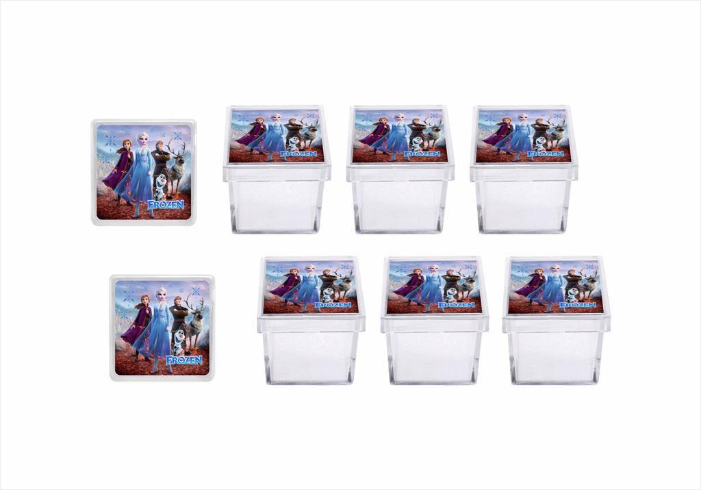 Kit festa Frozen 2 (azul e lilás)121 peças 10 pessoas