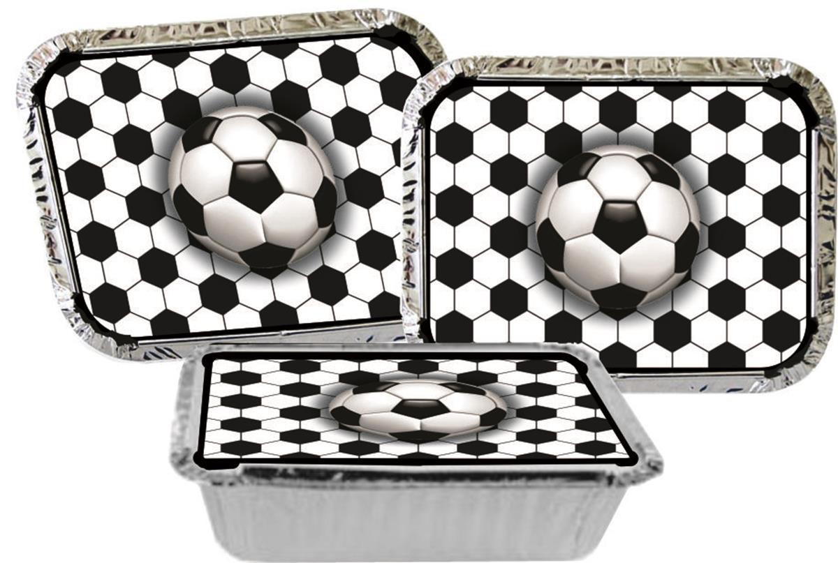 Kit festa Futebol (preto) 170 peças (20 pessoas)