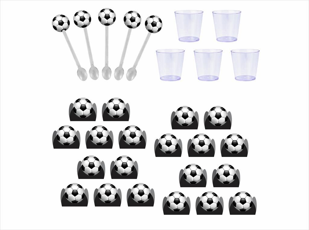 Kit festa Futebol (preto) 61 peças