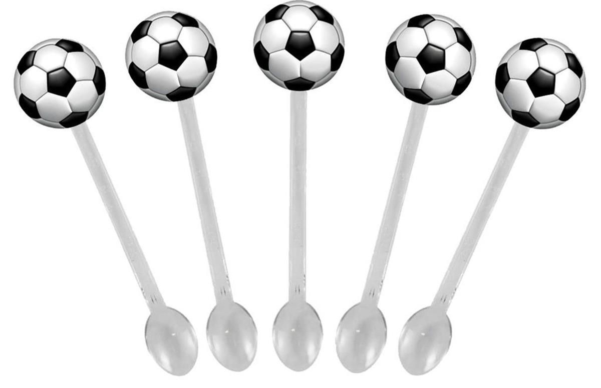 Kit festa Futebol (preto) 99 peças (10 pessoas)