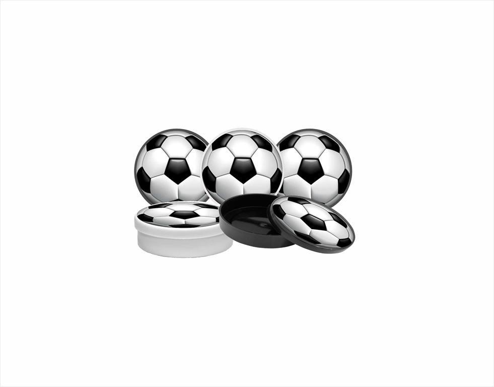 Kit festa Futebol (preto e branco) 121 peças (10 pessoas)