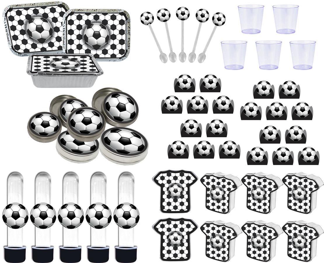 Kit festa Futebol (preto ) modelo novo 110 peças