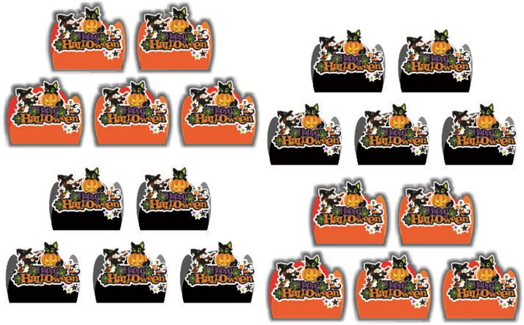 Kit festa Halloween (laranja e preto) 106 peças (10 pessoas)