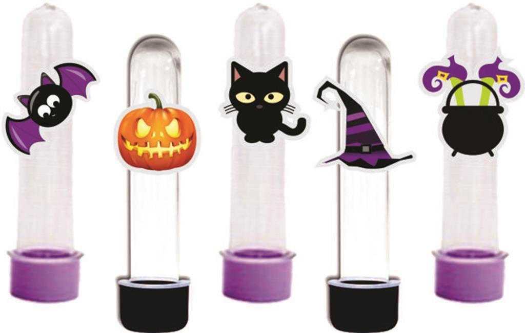 Kit festa Halloween (lilás e preto) 160 peças (20 pessoas)