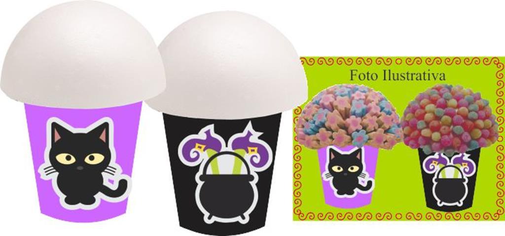 Kit festa Halloween (lilás e preto) 99 peças (10 pessoas)