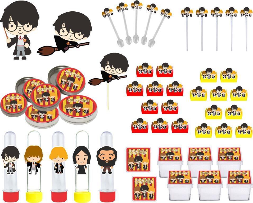 Kit festa Harry Potter 107 peças (10 pessoas)