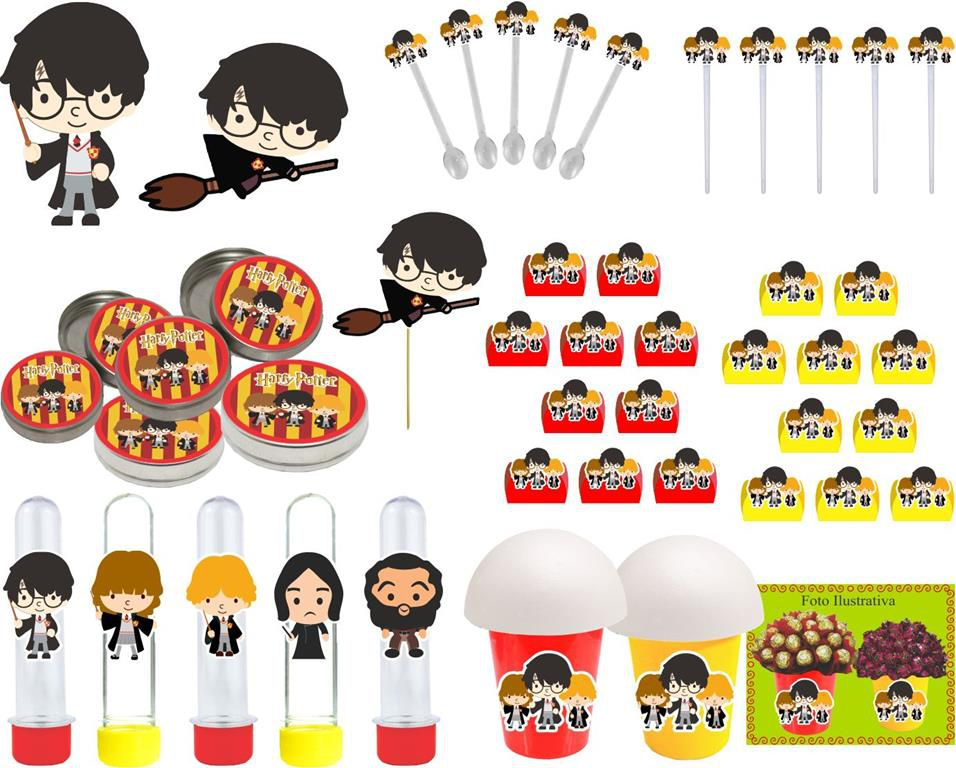 Kit festa Harry Potter 99 peças (10 pessoas)