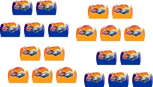 Kit Festa Hot Wheels 107 Peças (10 pessoas)