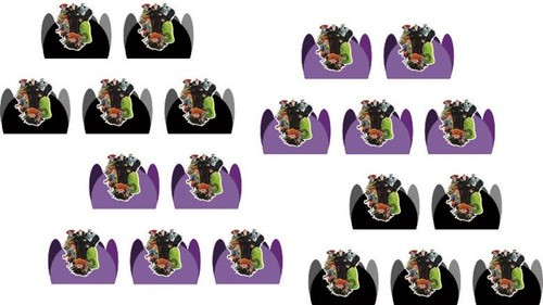 Kit festa Hotel Transilvânia 99 peças (10 pessoas)