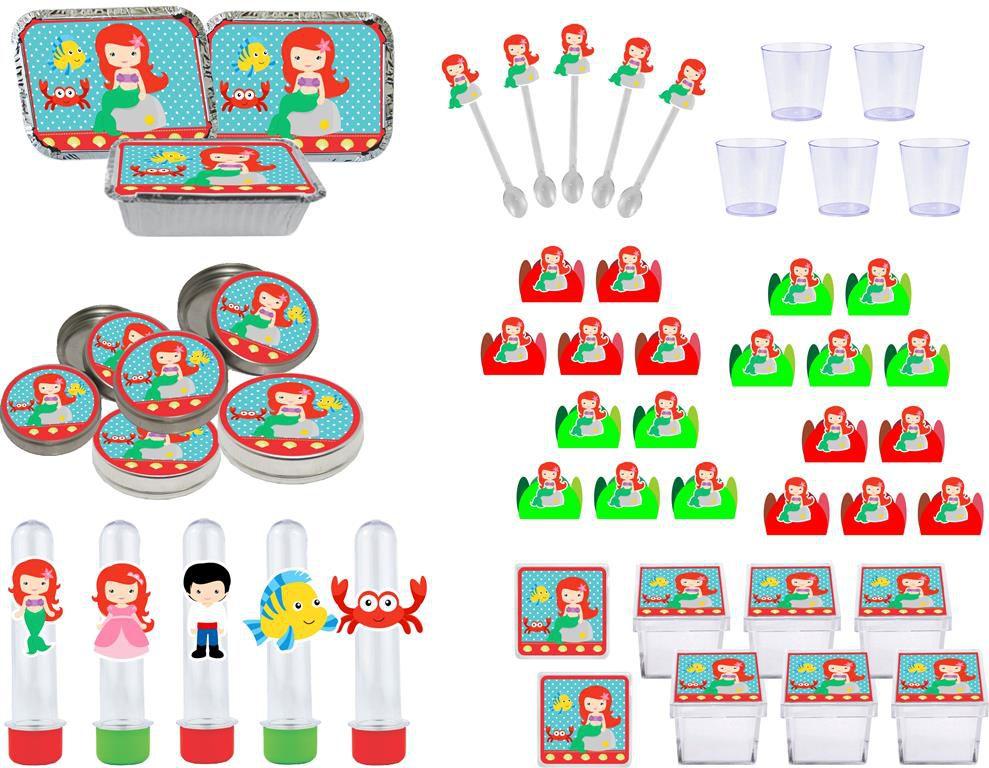 Kit festa A Pequena Sereia Baby (Cute) 170 peças (20 pessoas)