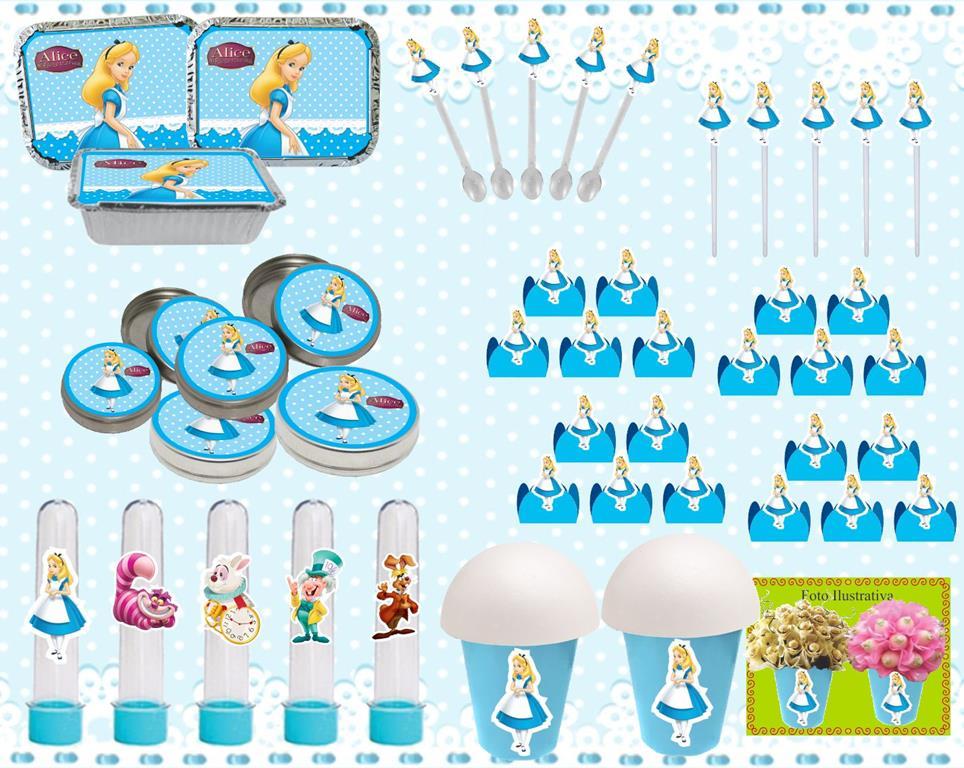 Kit festal Alice no País das Maravilhas 160 peças (20 pessoas)