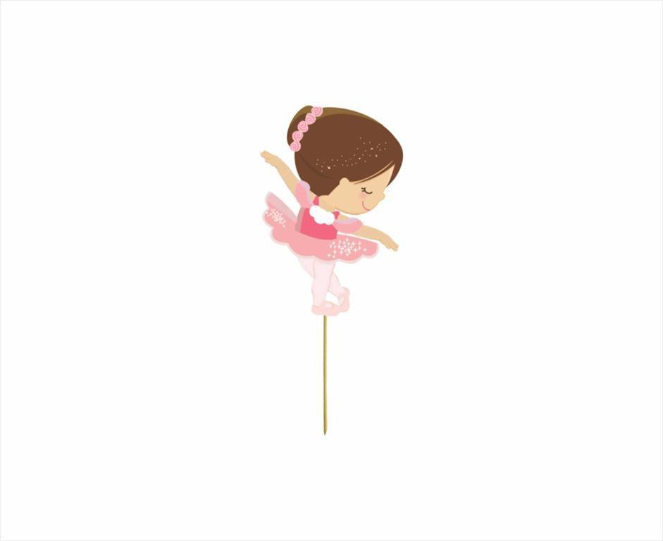 Kit Festa Infantil Bailarina 143 Peças (20 pessoas)