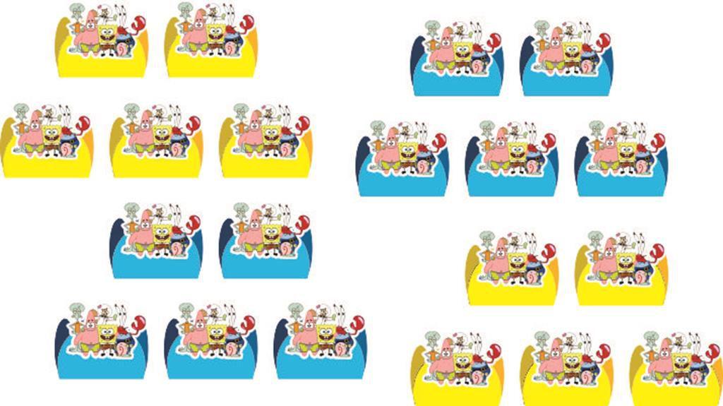 Kit Festa Infantil Bob Esponja 178 Pças (20 pessoas)