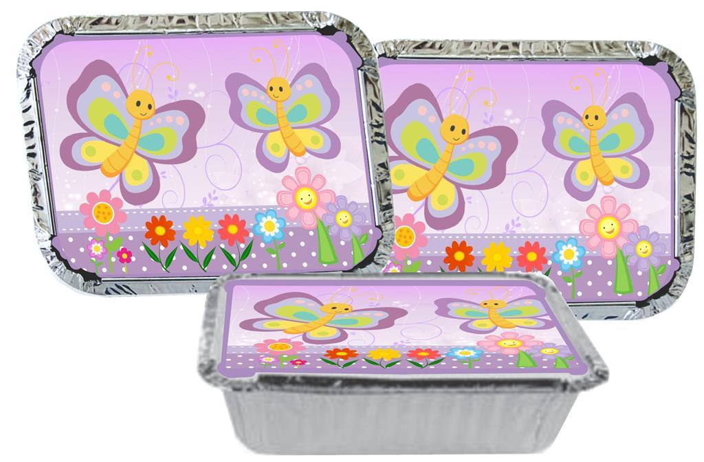 Kit festa infantil Borboleta (lilás) 170 peças (20 pessoas)