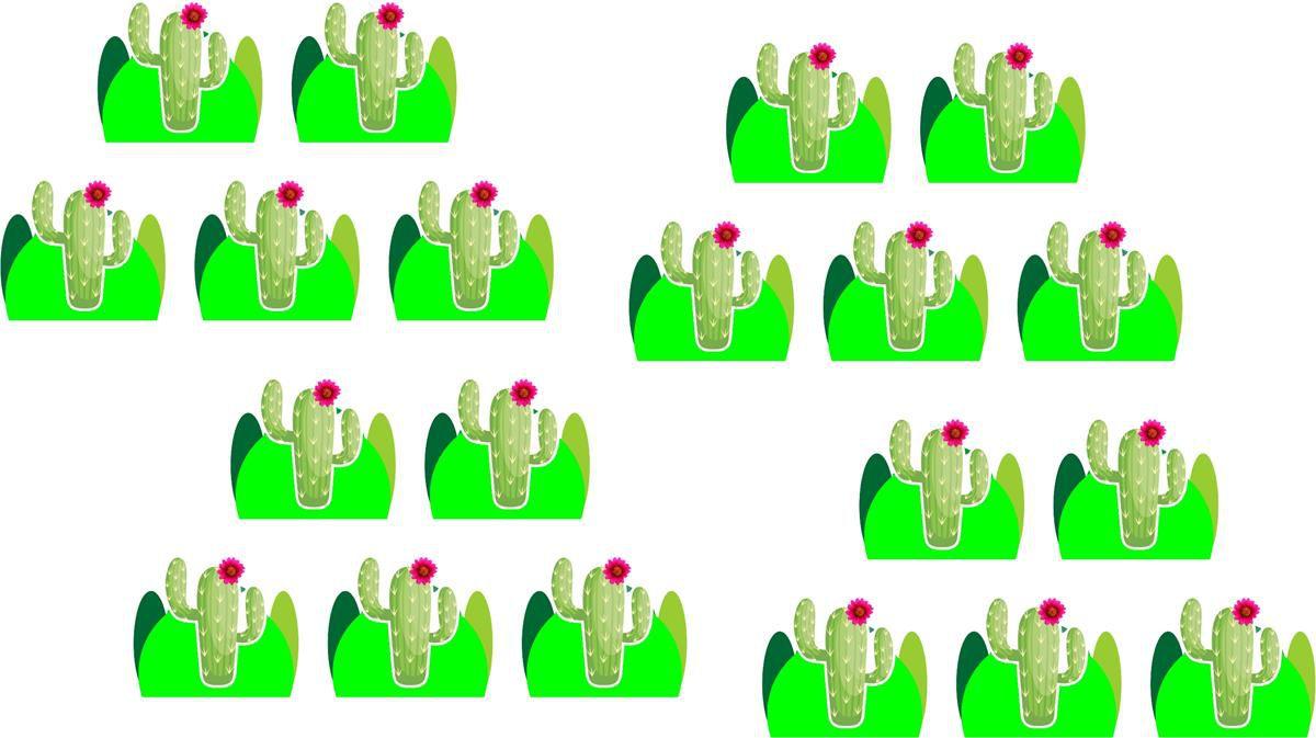 Kit Festa Infantil Cactos Menina 99 peças (10 pessoas)