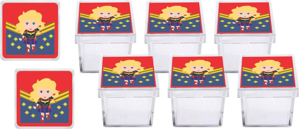 Kit festa Infantil Capitã Marvel Baby (cute) 110 peças