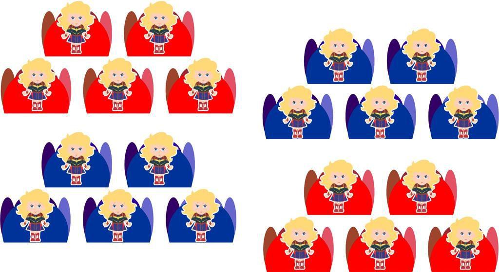 Kit festa Capitã Marvel Baby (cute) 170 peças (20 pessoas)