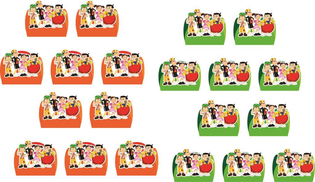 Kit festa Infantil Chaves 155 peças (20 pessoas)