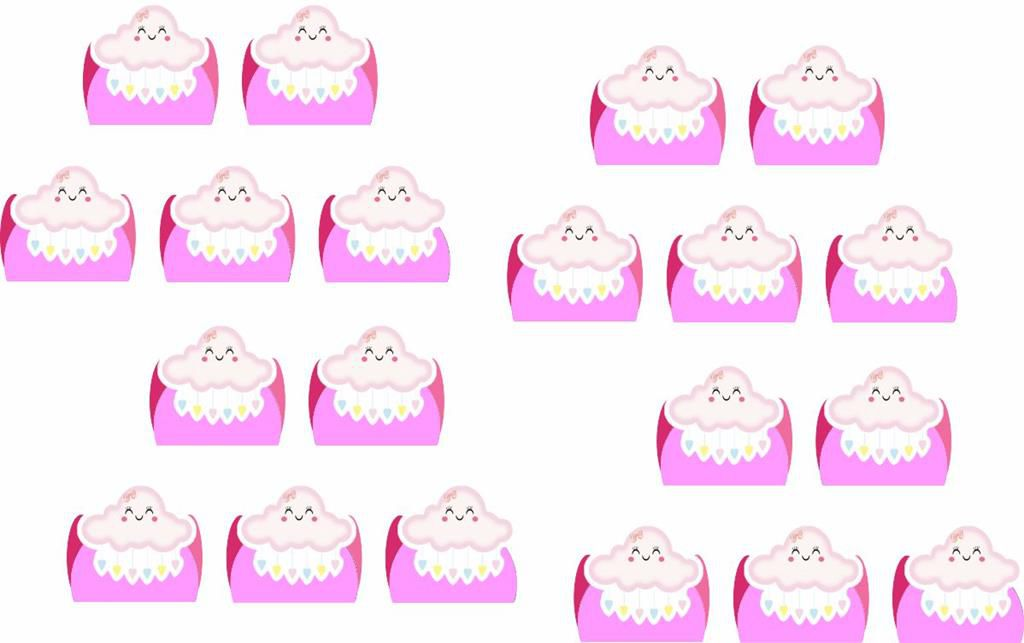 kit festa Chuva de Benção rosa 160 peças (20 pessoas)