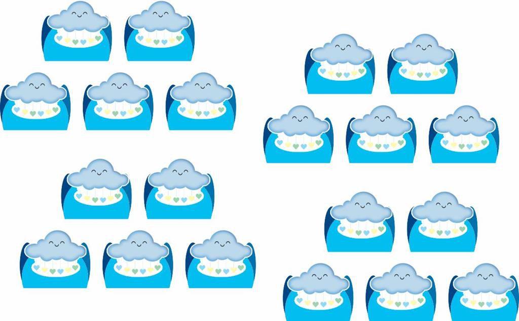 Kit festa Chuva de Benção azul 160 peças (20 pessoas)