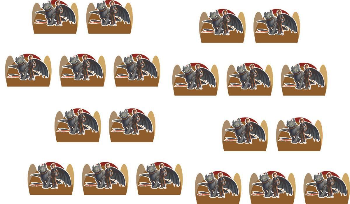 Kit festa Como Treinar Seu Dragão 107 peças (10 pessoas)