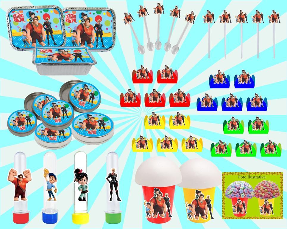Kit festa Infantil Detona Ralph 160 peças (20 pessoas)