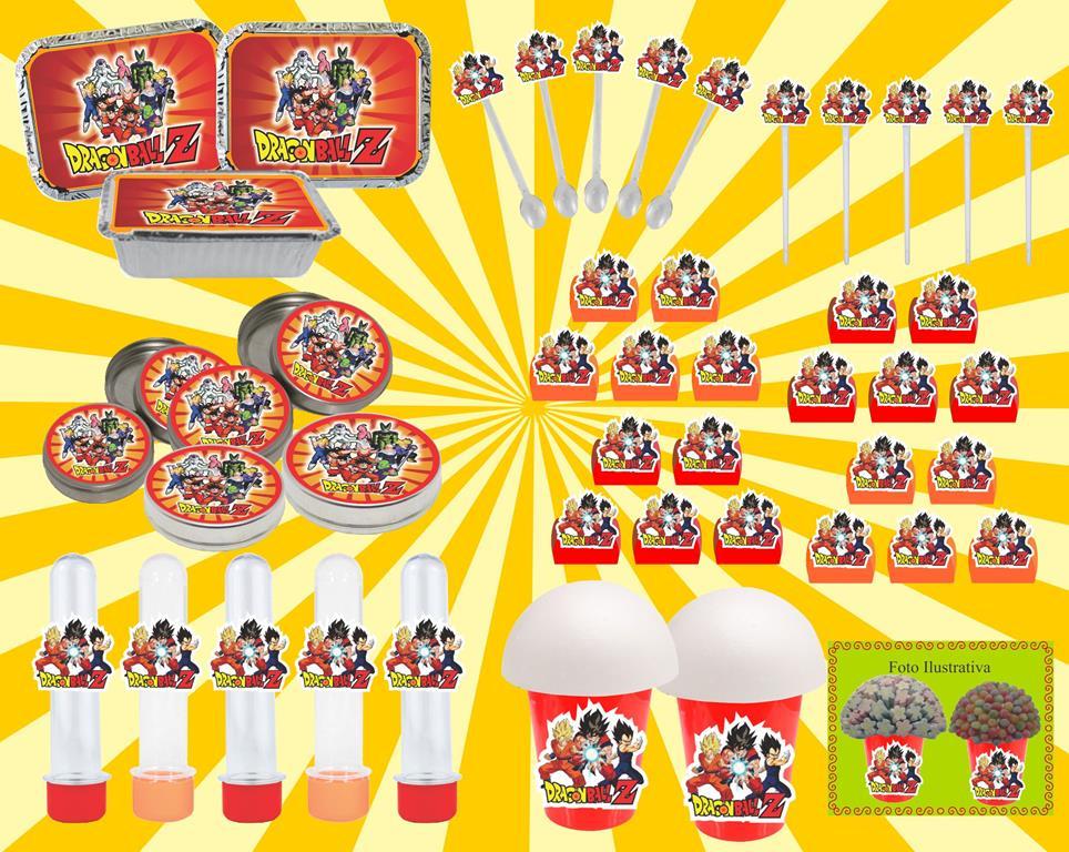 kit festa Dragon Ball Z 160 peças (20 pessoas)