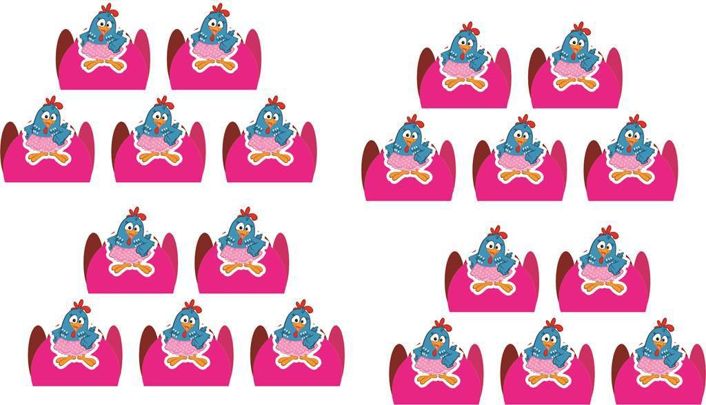 kit festa Galinha Pintadinha Menina 160 peças (20 pessoas)