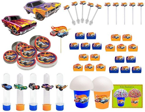 Kit Festa Infantil Hot Wheels 143 Peças (20 pessoas)