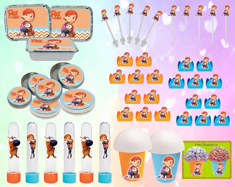 Kit festa Infantil Lelê e Linguiça 160 peças (20 pessoas)