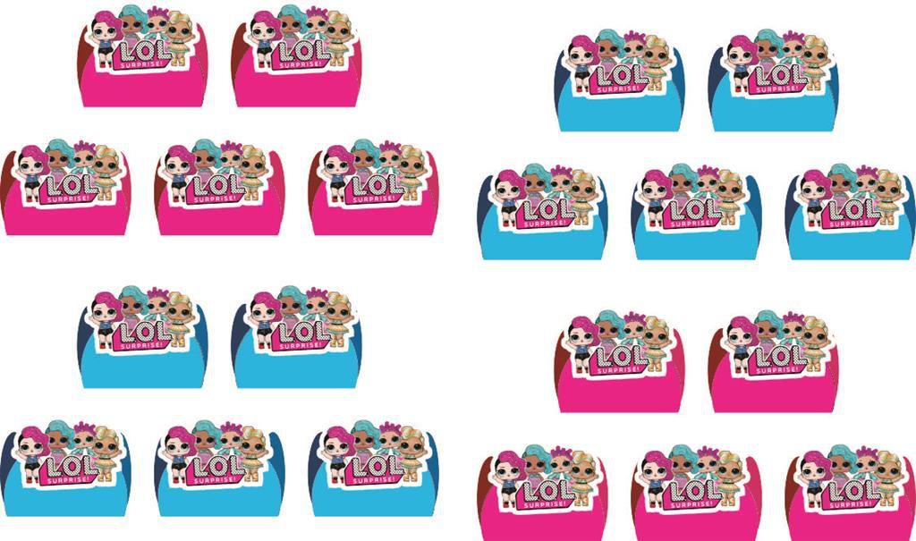 kit festa Lol Surprise (pink e azul claro) 160 peças (20 pessoas)