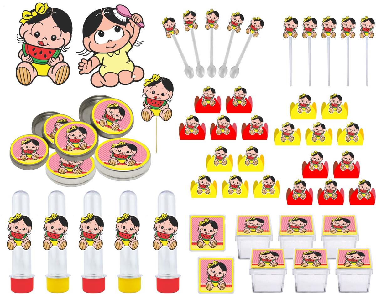 Kit Festa Infantil Magali Baby 107 Pças (10 pessoas)