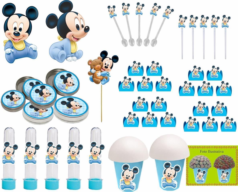 Kit Festa Infantil Mickey Baby 143 Peças (20 pessoas)