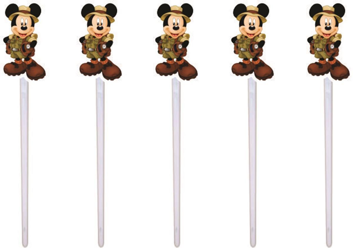 Kit Festa Infantil Mickey Safari 265 Peças (30 pessoas)