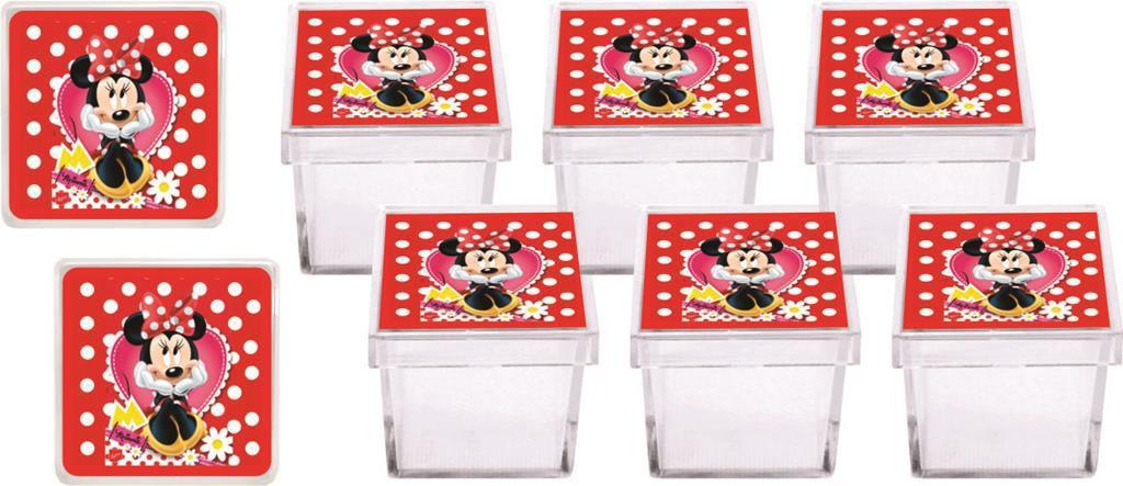 Kit Festa Infantil Minnie Vermelha 107 Peças (10 pessoas)