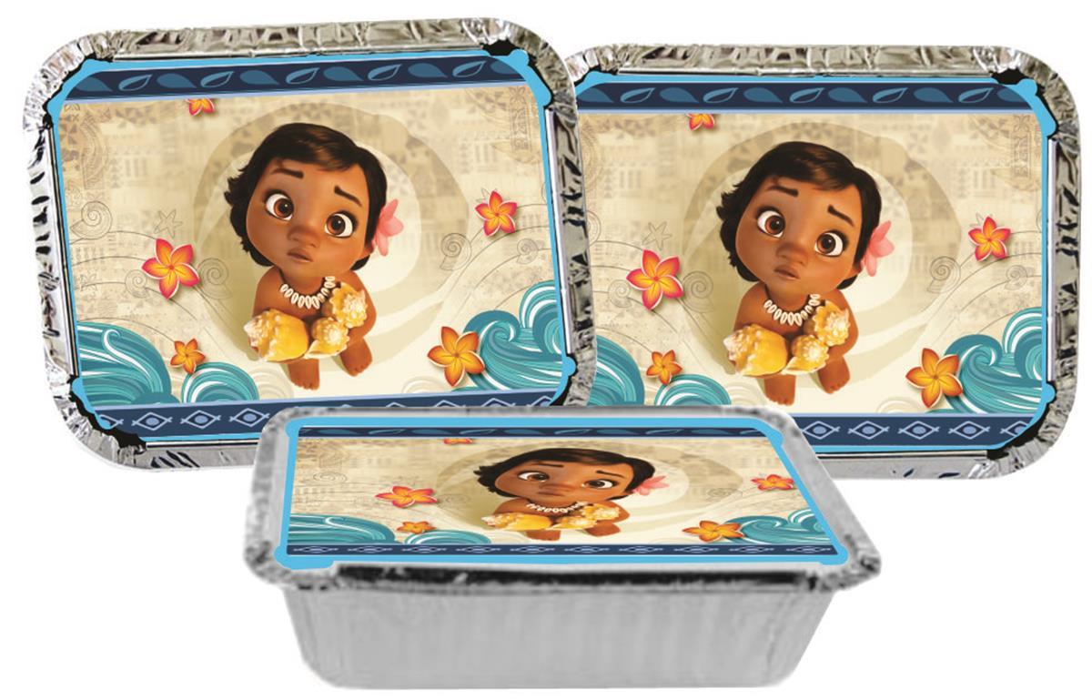 Kit Festa Infantil Moana Baby 114 Peças (10 pessoas)