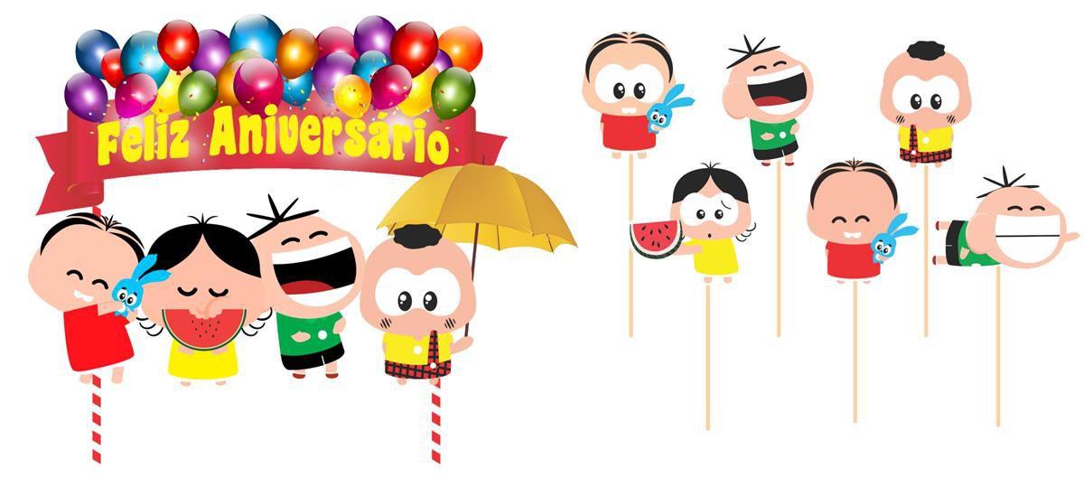 Kit festa Infantil Turma da Mônica Toy 141 peças